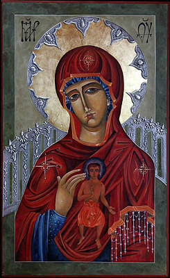 Catholic For Sale Painting - Mary Of The Burning Bush by Mary jane Miller