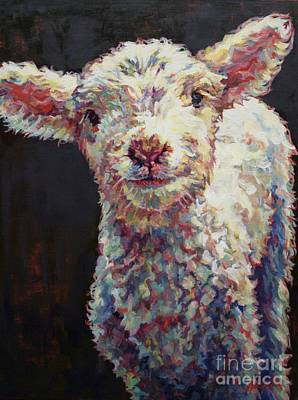 Sheep Painting - Mary by Patricia A Griffin