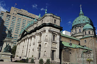 Que Photograph - Mary Queen Of The World Cathedral Montreal by Jason O Watson