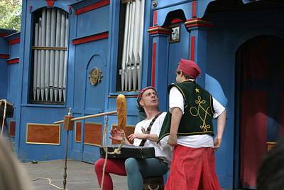 Aged Photograph - Maryland Renaissance Festival - A Fool Named O - 121249 by DC Photographer