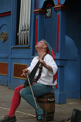 Aged Photograph - Maryland Renaissance Festival - A Fool Named O - 121256 by DC Photographer