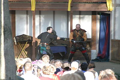 Maryland Renaissance Festival - Hack And Slash - 12128 Print by DC Photographer