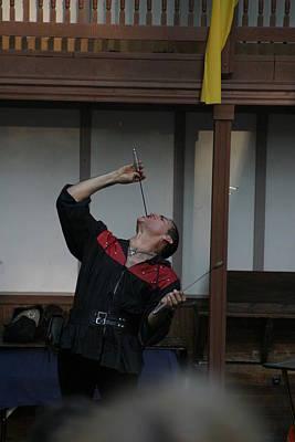 Old Photograph - Maryland Renaissance Festival - Johnny Fox Sword Swallower - 1212108 by DC Photographer