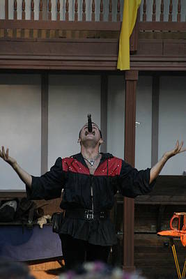 Artists Photograph - Maryland Renaissance Festival - Johnny Fox Sword Swallower - 1212112 by DC Photographer
