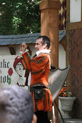 Maryland Renaissance Festival - Johnny Fox Sword Swallower - 121226 Print by DC Photographer