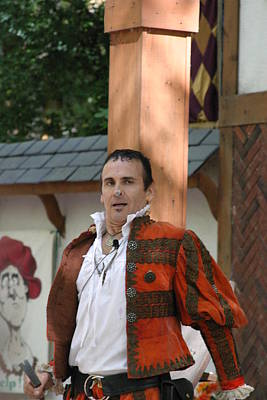 Maryland Renaissance Festival - Johnny Fox Sword Swallower - 121235 Print by DC Photographer