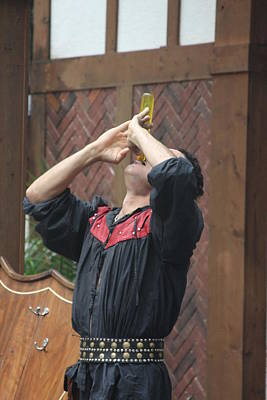 Maryland Renaissance Festival - Johnny Fox Sword Swallower - 121272 Print by DC Photographer