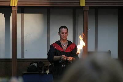 Maryland Renaissance Festival - Johnny Fox Sword Swallower - 121283 Print by DC Photographer