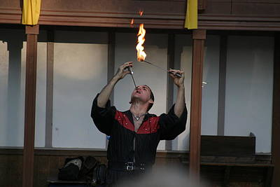 Ages Photograph - Maryland Renaissance Festival - Johnny Fox Sword Swallower - 121294 by DC Photographer