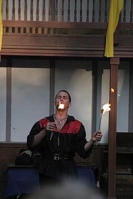Maryland Renaissance Festival - Johnny Fox Sword Swallower - 121296 Print by DC Photographer