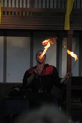Johnny Photograph - Maryland Renaissance Festival - Johnny Fox Sword Swallower - 121298 by DC Photographer