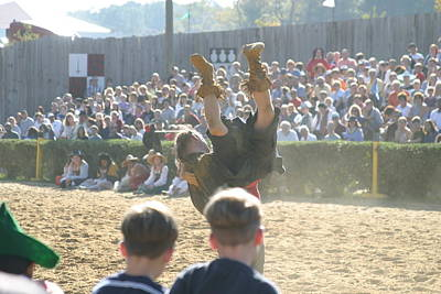 Maryland Renaissance Festival - Jousting And Sword Fighting - 1212111 Print by DC Photographer