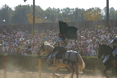 Maryland Renaissance Festival - Jousting And Sword Fighting - 1212132 Print by DC Photographer