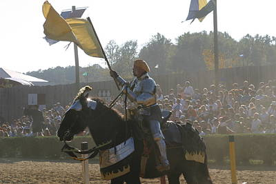 Knight Photograph - Maryland Renaissance Festival - Jousting And Sword Fighting - 1212137 by DC Photographer