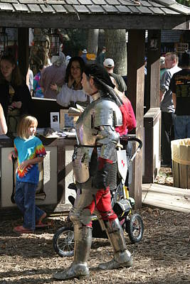 Knight Photograph - Maryland Renaissance Festival - Jousting And Sword Fighting - 1212149 by DC Photographer