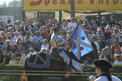 Maryland Renaissance Festival - Jousting And Sword Fighting - 1212151 Print by DC Photographer
