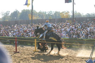 Maryland Renaissance Festival - Jousting And Sword Fighting - 1212161 Print by DC Photographer
