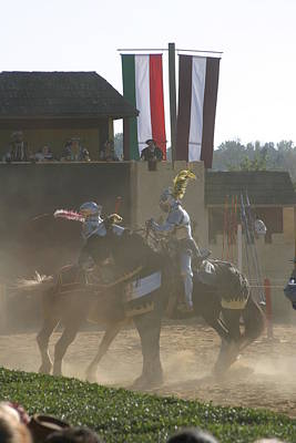 Maryland Renaissance Festival - Jousting And Sword Fighting - 1212180 Print by DC Photographer