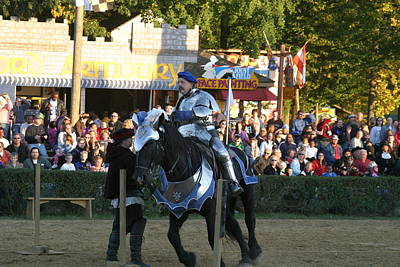 Maryland Renaissance Festival - Jousting And Sword Fighting - 121232 Print by DC Photographer
