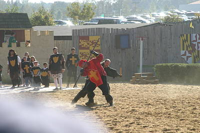 Maryland Renaissance Festival - Jousting And Sword Fighting - 121276 Print by DC Photographer
