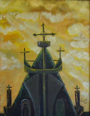 Mary's Cathedral In The Sky Print by Tricia Concienne