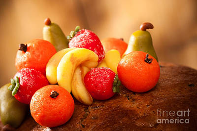 Almond Photograph - Marzipan Fruits by Amanda And Christopher Elwell