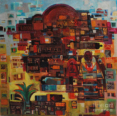 Painting - Maseed Maseed 7 by Mohamed Fadul