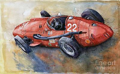 Maserati Painting - Maserati 250 F 1957  by Yuriy  Shevchuk