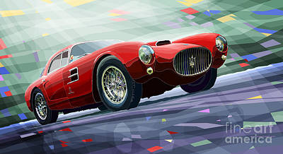 Maserati Digital Art - Maserati A6gcs Berlinetta By Pininfarina 1954 by Yuriy Shevchuk