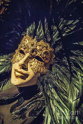 Mask With A Chip Print by Danilo Piccioni