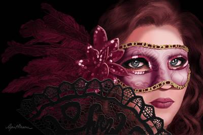 Masked I Print by April Moen