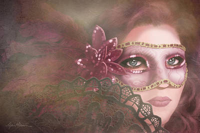 Sequin Digital Art - Masked IIi by April Moen