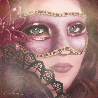 Sequin Digital Art - Masked Iv by April Moen
