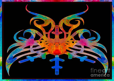 Masking Reality Abstract Shapes Artwork Print by Omaste Witkowski