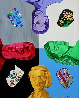 Mardi Gras Painting - Masks 2 by Mike Nahorniak