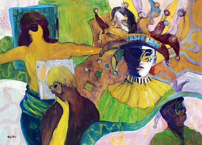 Mardi Gras Painting - Masks by Tom Poole