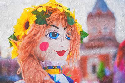 Maslenitsa Dolls 2. Russia Print by Jenny Rainbow