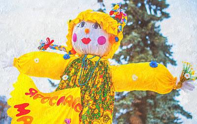 Maslenitsa Dolls 3. Russia Print by Jenny Rainbow