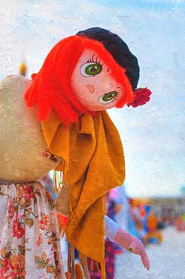 Maslenitsa Dolls 6. Russia Print by Jenny Rainbow
