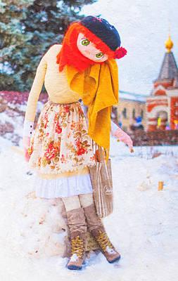 Maslenitsa Dolls 7. Russia Print by Jenny Rainbow