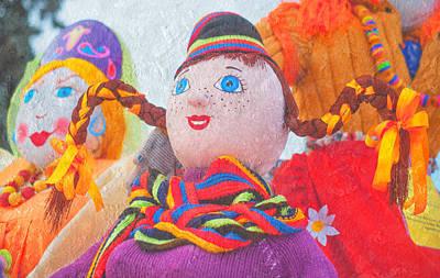Maslenitsa Dolls. Russia Print by Jenny Rainbow