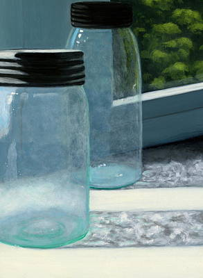 Mason Jars Print by Karyn Robinson