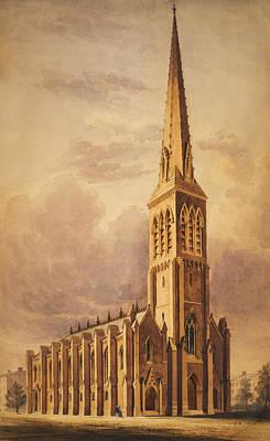 Christ Drawing - Masonry Church Circa 1850 by Aged Pixel