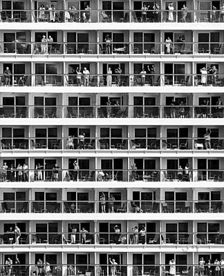 Balcony Photograph - Mass Tourism by Franz Baumann