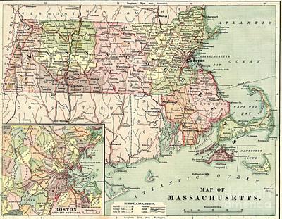 Massachusetts 1876 Original by Steven Parker