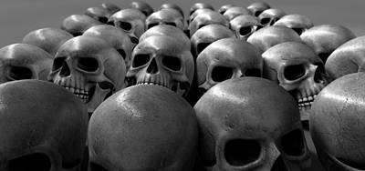 Genocides Digital Art - Massacre Of Skulls by Allan Swart