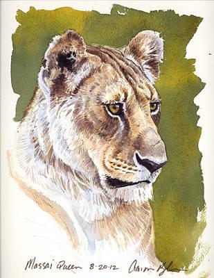 Lioness Digital Art - Massai Queen by Aaron Blaise