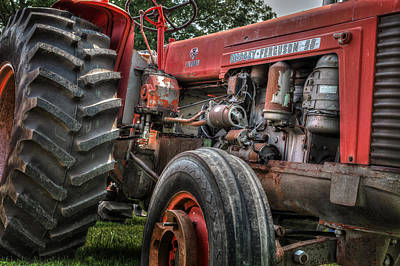 Tractor Photograph - Massey Ferguson Antique Tractor by Bill Wakeley