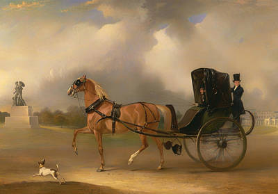 Hyde Park Painting - Massey-stanley Driving His Cabriolet In Hyde Park by Mountain Dreams