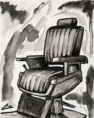 Master Chair Print by Charles Edwards